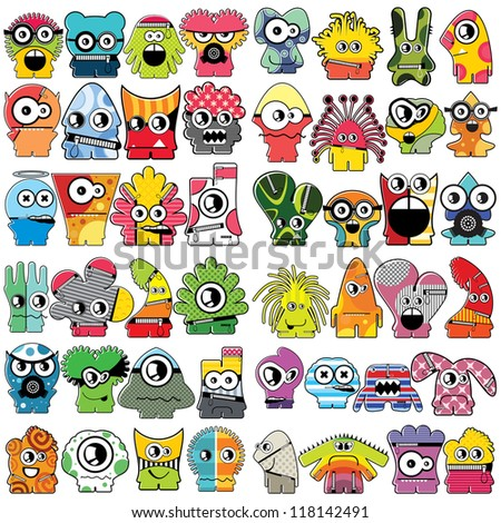 Monsters - vector set