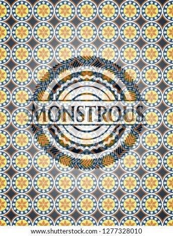 Monstrous arabesque emblem. arabic decoration.