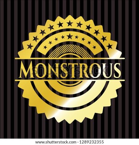 Monstrous shiny badge