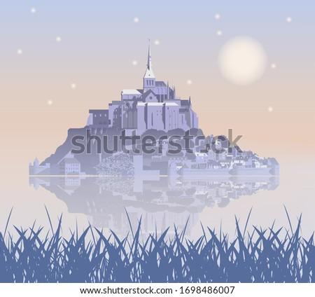 mont saint michel abbey in the