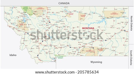 montana indian reservation map