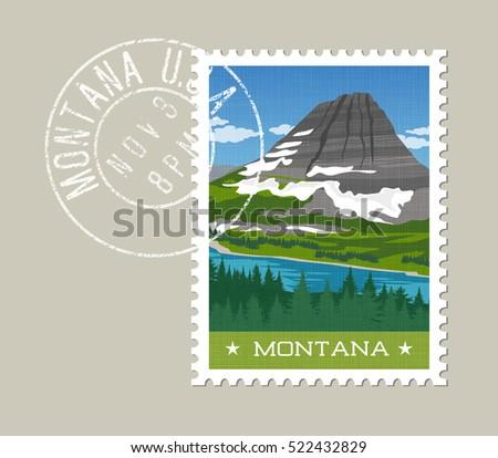 montana  postage stamp design