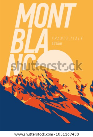 montblanc in alps  france