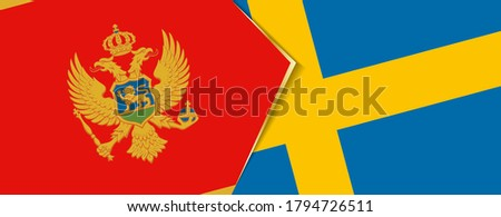 montenegro and sweden flags