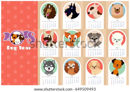 monthly kids calendar 2018 with