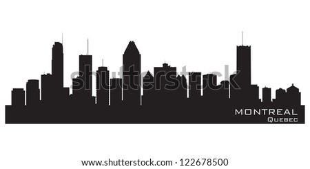 Montreal, Canada skyline. Detailed silhouette. Vector illustration