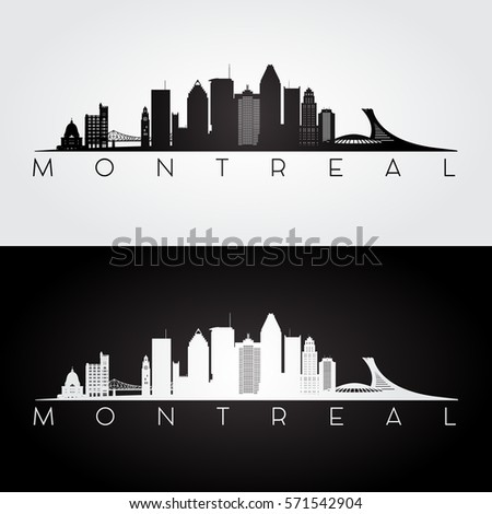 montreal skyline and landmarks