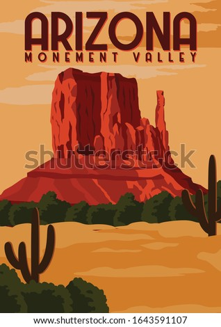 monument valley vector