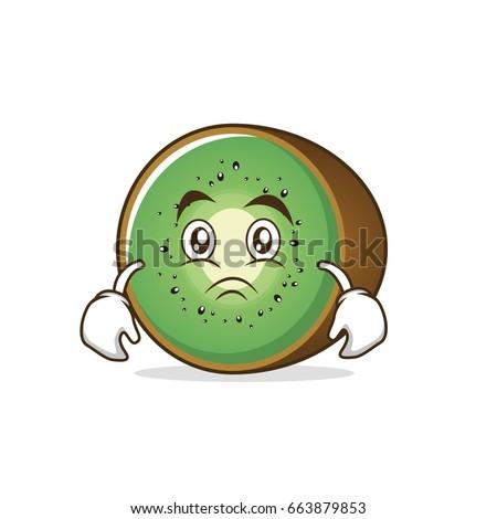 moody kiwi fruit cartoon