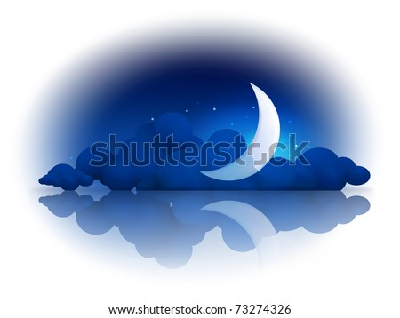 Moon and clouds, 10eps