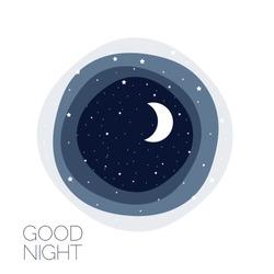 Moon and stars. Concept idea. Good night logo. Vector illustration. EPS 8
