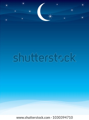 moon and stars for a ramadan