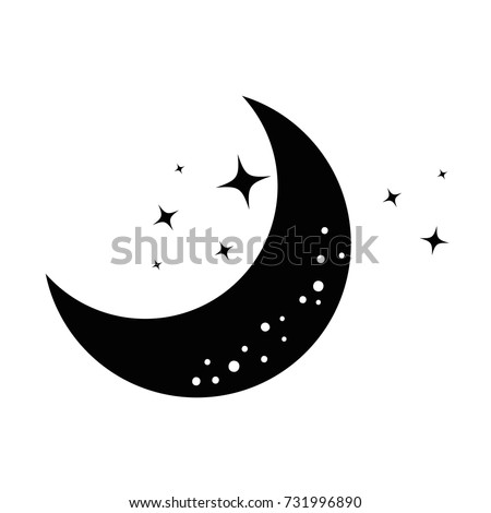 moon and stars night