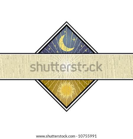 moon and sun illustration
