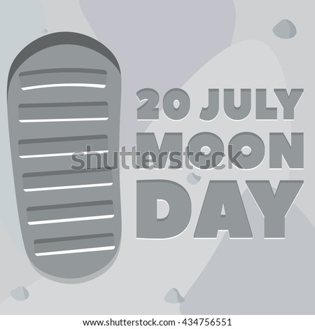 moon day poster footprint