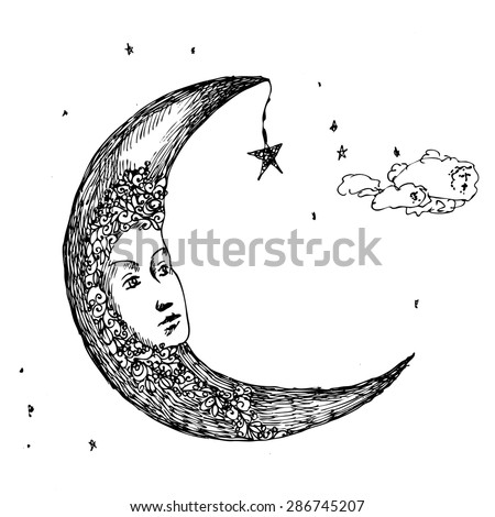 moon drawing pen fabulous