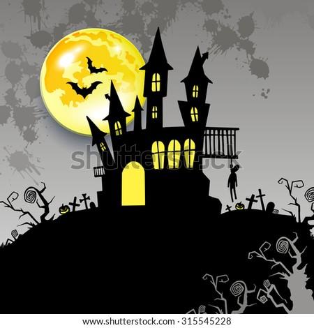 moon halloween castle