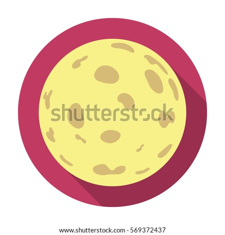 moon icon in flat style