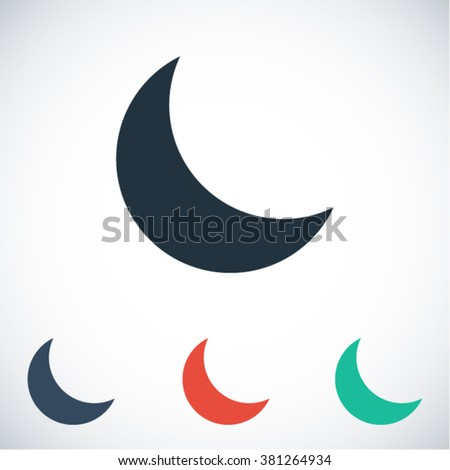 moon  icon  moon  vector icon
