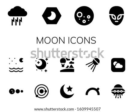 moon icon set 14 filled moon