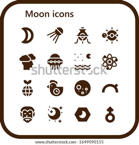 moon icon set 16 filled moon