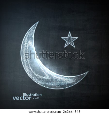 moon icon  vector illustration