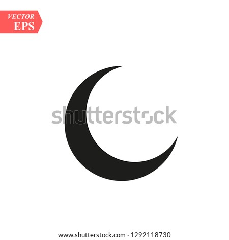 Moon icon, vector illustration. Flat downstairs style. Vector moon icon illustration isolated on white background, moon icon Eps10. moon icons graphic design vector symbols.