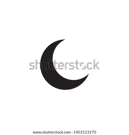 Moon icon vector. Moon an star icon. Logo illustration on white background. Flat design style.