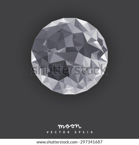 moon in polygon style  elements