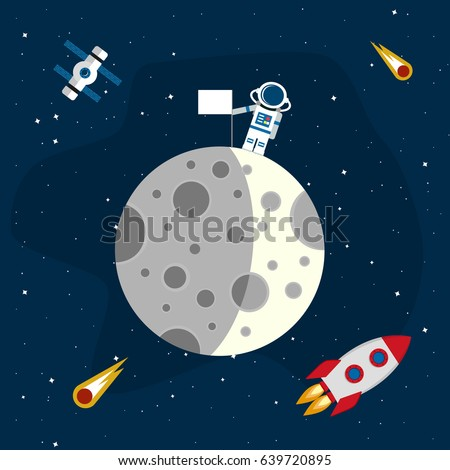 moon in the background of an