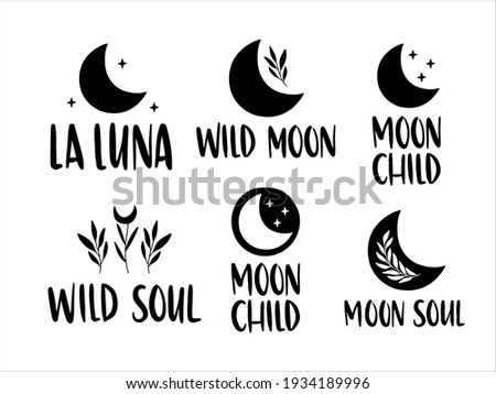moon inspirational lettering