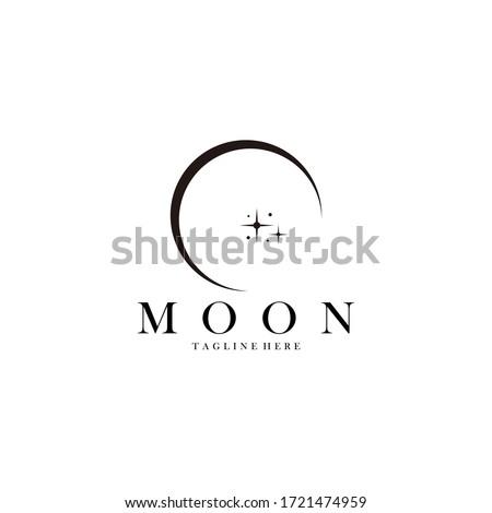moon logo icon vector isolated