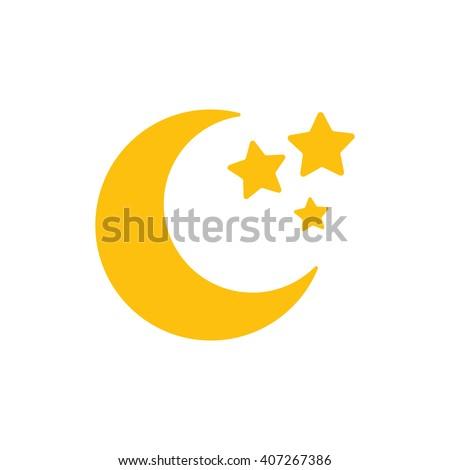 moon moon icon flat moon icon