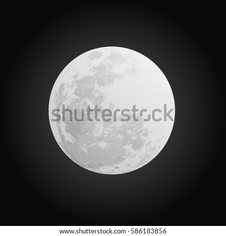 moon on black background