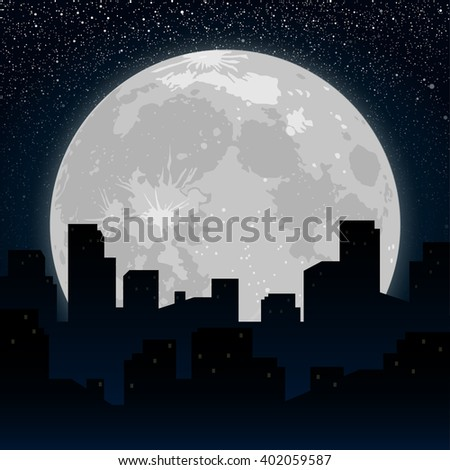 moon on the background