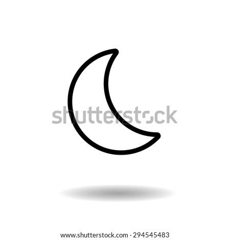 Moon phase outline icon vector illustration eps10 on white background