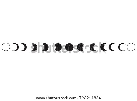 moon phases astronomy icon set