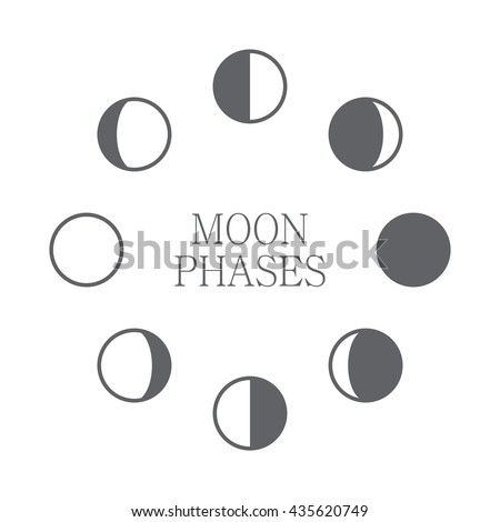 moon phases icon night space