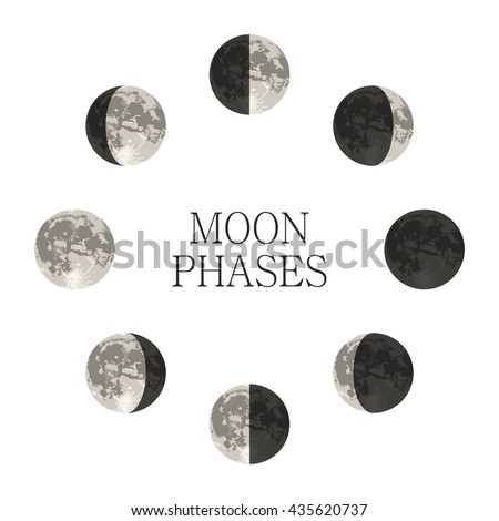 moon phases night space