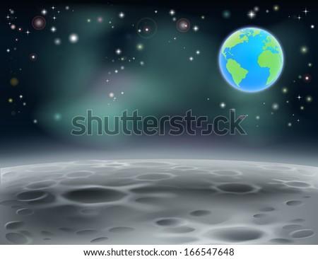 moon surface landscape