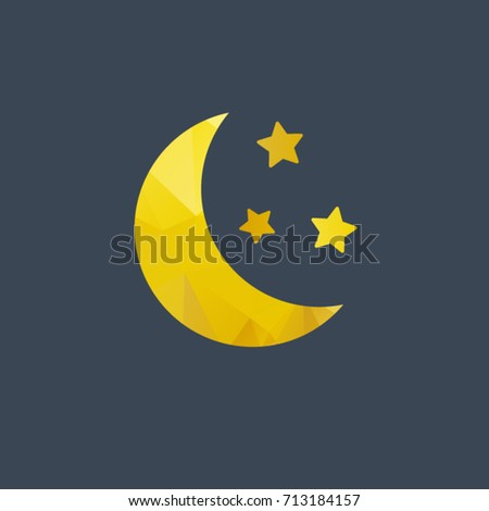 moon vector icon on background