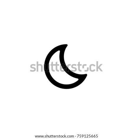 Moon Weather Icon. Vector.