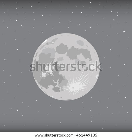 moon with starry background