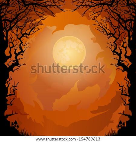 moonlight halloween background