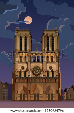 moonlight night notre dame de