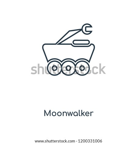 moonwalker concept line icon