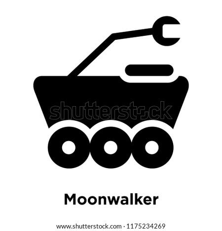 moonwalker icon vector isolated