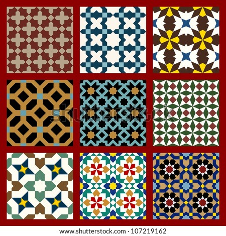 Anvar Moorish Pattern Stock Vector 106550972 : Shutterstock