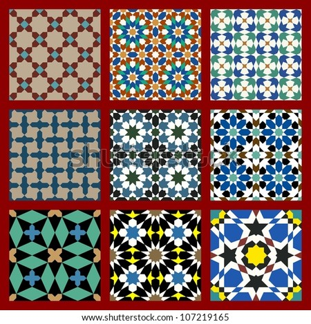 Moorish Seamless Pattern Set Three