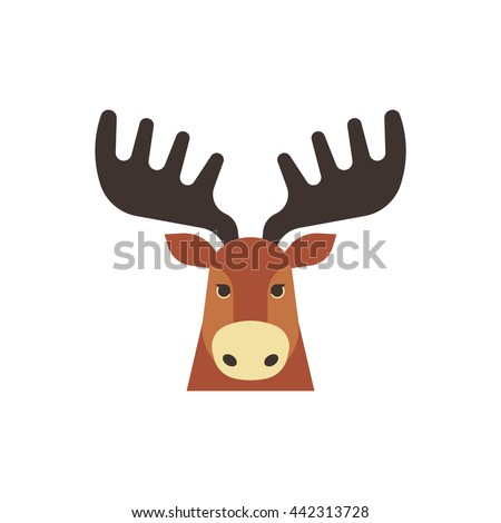 Moose face icon